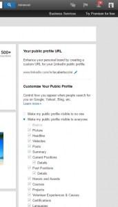 Profilo LinkedIn Efficace - Profilo Pubblico sezioni