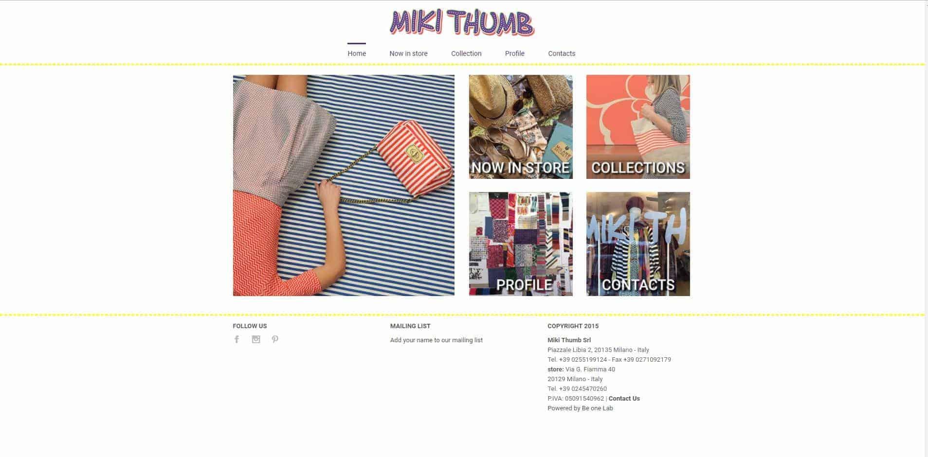 Siti web professionali per negozi